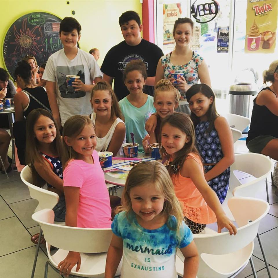 Ice Cream Party at Nationals in Florida