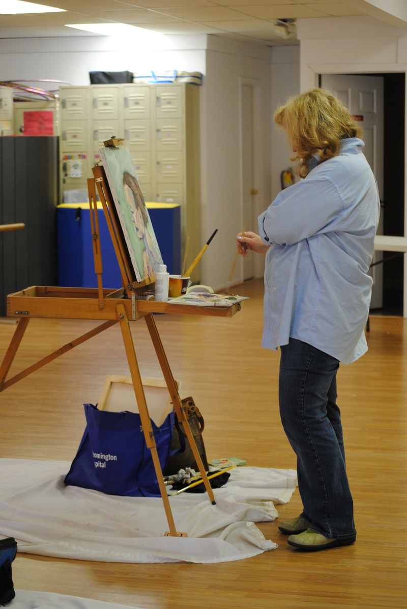 Weekly Artists in Studio with model