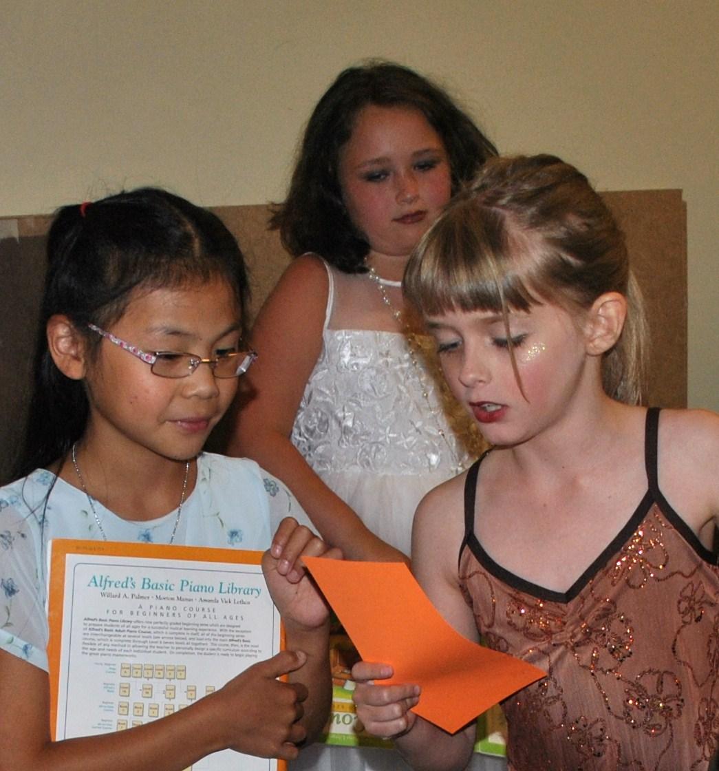 Piano students prepare at Dress Rehearsal