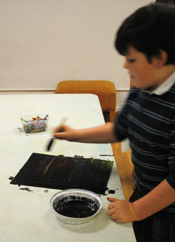 Creating their own scratch art sheets