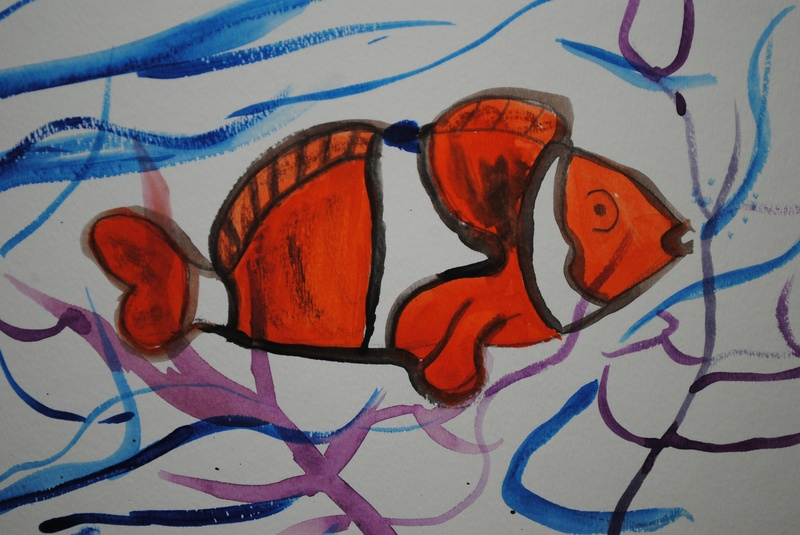 Clown Fish - Watercolor