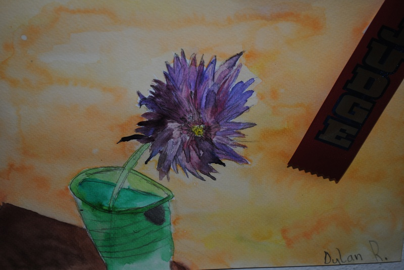 Flower - Watercolor (age 6)