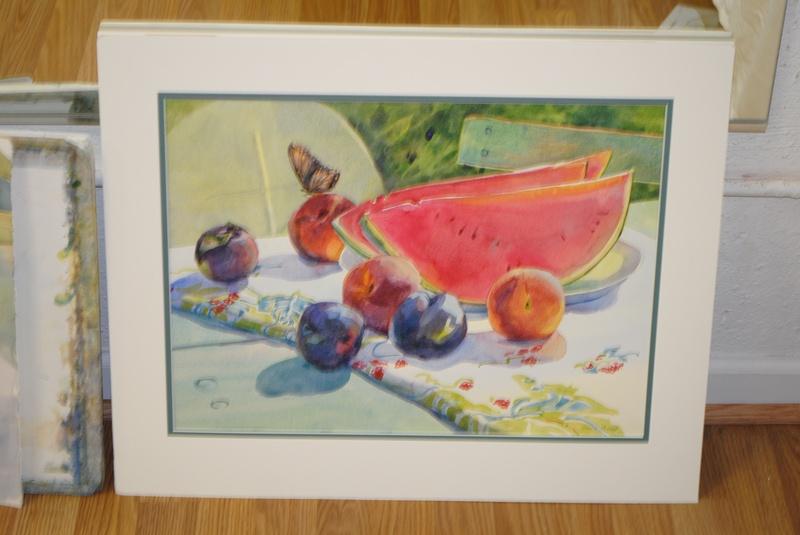 Summer Watermelon Watercolor- Original by Jeanne McLeish
