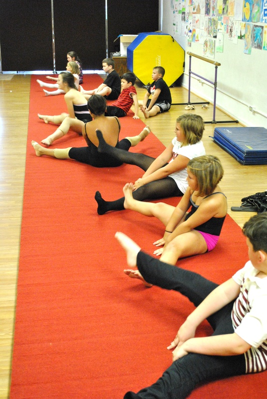 Friday night team - stretching