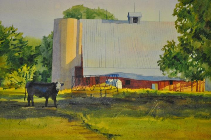 Watercolor demo by Jeanne McLeish